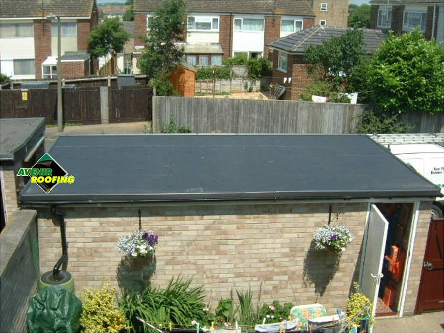 Detached Garage EPDM Roof